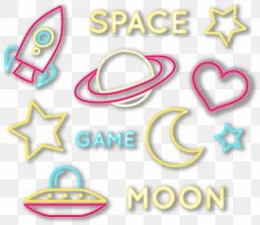 Space Aerospace Neon Lights - Rocket Spaceflight Aerospace PNG