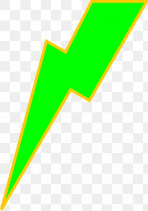 Lighting Bolt Picture - Area Triangle Green PNG
