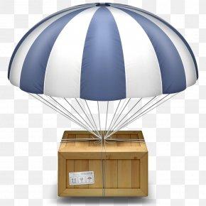 Parachute - Macintosh AirDrop MacOS Finder Icon PNG