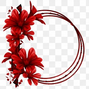 Red Flower Ring - Red Flower PNG