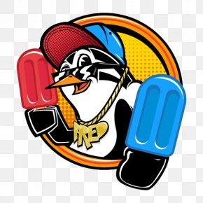 Penguin Popsicles - Penguin Cartoon Typography PNG