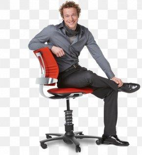 Sitting Man - Office Chair Table Kneeling Chair Varier Furniture AS PNG