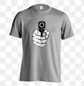 Hand-painted T-shirt - T-shirt Clothing Gun Sleeve PNG