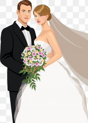 The Bride And Groom's Wedding Material Vector Painted Embrace - Wedding Invitation Bridegroom Marriage PNG