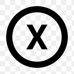 X - Registered Trademark Symbol Copyright Symbol PNG