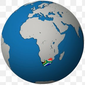 Map Of South Africa On Earth - Flag Of South Africa Globe World Map Stock Photography PNG