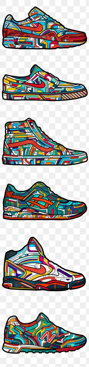 Cartoon Sneakers - Shoe Nike Sneakers Adidas New Balance PNG