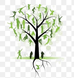 Tree Silhouette - Family Tree Genealogy Clip Art PNG