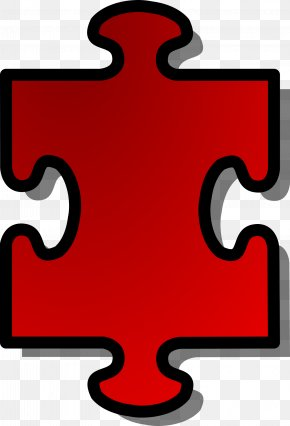 RED SHAPES - Jigsaw Puzzles Clip Art PNG