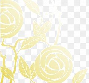 Yellow Rose Background - Petal Drawing Flora Pattern PNG