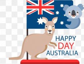 Australian Koala Kangaroo Festival Poster - Australian Shepherd Flag Of Australia Australia Day Koala PNG
