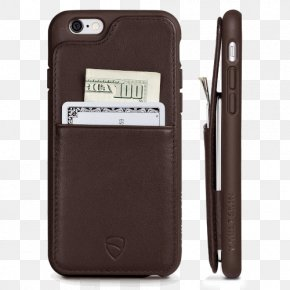 Iphone 6 Wallet Brown - IPhone 4 Mobile Phone Accessories IPhone 6 Plus Apple Wallet Smartphone PNG