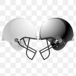 Black And White Helmet - NFL Football Helmet American Football Stock Photography PNG