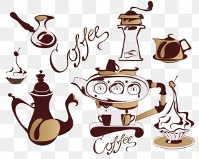 Coffee Decoration Vector Material - Coffee Bean Cappuccino Cafe Clip Art PNG