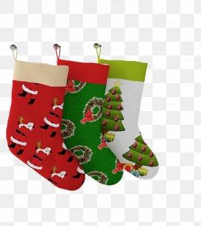 Christmas Stocking - Santa Claus Christmas Stocking Christmas Decoration Christmas Tree PNG