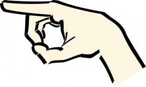 Left Cliparts - Index Finger Hand Clip Art PNG