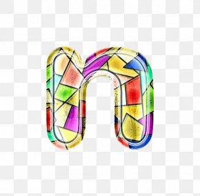 Stained Glass Letter N - Stained Glass Clip Art PNG