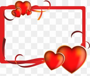 Valentine's Day - Valentine's Day Picture Frames Cash Express Photography Clip Art PNG