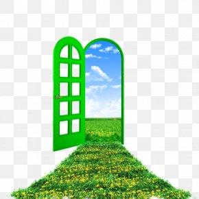 Plants And Flowers In Front Of Windows And Doors - Window Heaven Pintu Surga Door Dawah PNG