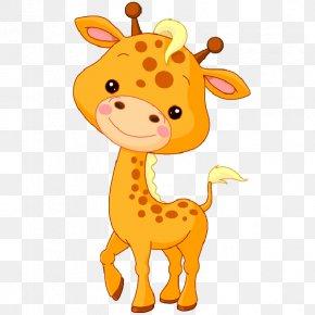 Giraffe Sun Cliparts - Baby Jungle Animals Northern Giraffe Clip Art PNG