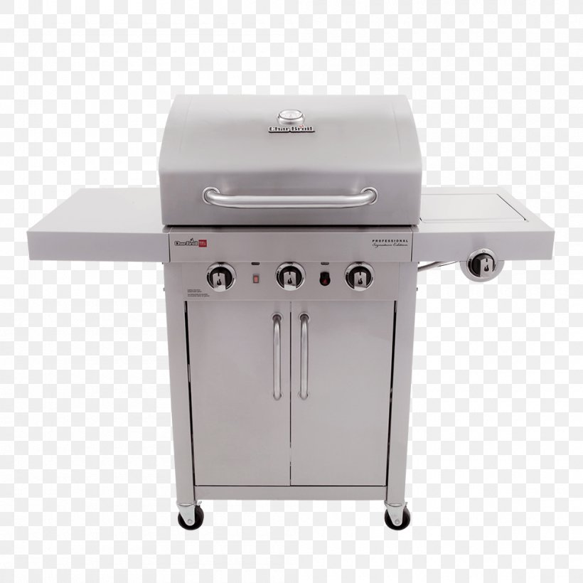 Barbecue Grilling Char-Broil TRU-Infrared 463633316 Char-Broil Signature 4 Burner Gas Grill, PNG, 1000x1000px, Barbecue, Bbq Smoker, Brenner, Charbroil, Charbroil 3 Burner Gas Grill Download Free