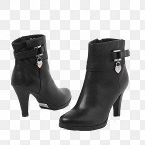 Black Zipper Boots - Boot Zipper Shoe PNG