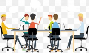 Business Discussion Cliparts - Meeting Team Building Business Event Management Teamwork PNG