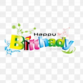 English Color Word Art Vector Happy Birthday - Happy Birthday To You Font PNG