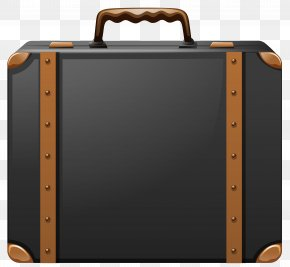 Black And Brown Suitcase Clipart Image - Suitcase Baggage Clip Art PNG