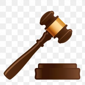 Point Like Wooden Buttons - Gavel Lawyer Judge Court PNG