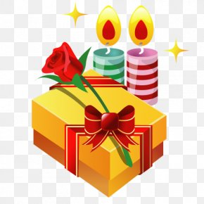 Candle Vector Material - Gift Adobe Illustrator PNG