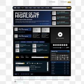 Black Exquisite Web Design - Web Design Web Template Web Page PNG