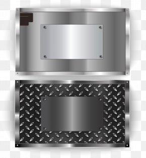 Small Fresh Safe Deposit Box - Metal Silver Euclidean Vector Banner PNG