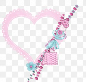 Hand-painted Floral Border Floral Border Celebration Creative - Heart Pink Shape PNG