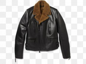 Black Leather Jacket - Leather Jacket Shearling Coat Burberry PNG