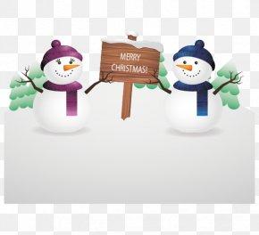 Christmas Snowman Vector - Snowman Christmas Clip Art PNG