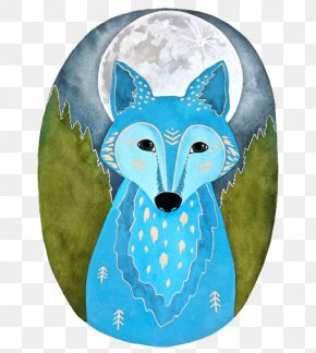 Blue Fox - Gray Wolf Watercolor Painting Fox Illustration PNG