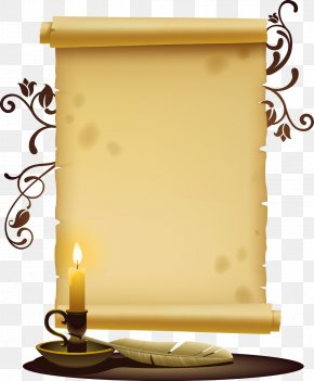 Vector Old Paper And Candle - Paper Icon PNG