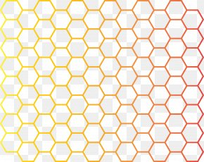 Simple Cellular Grid Vector - Hexagon Honeycomb Euclidean Vector Hexadecimal Pattern PNG