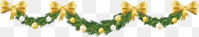 Christmas Background With Decorative Elements - Garland Christmas Ornament Christmas Tree Wreath Clip Art PNG