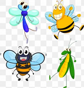 Insect - Insect Butterfly Bee Cartoon PNG