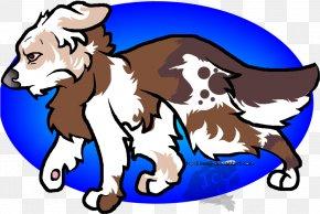 Australian Shepherd Clipart Dog Breed - Puppy Dog Breed Clip Art Illustration PNG