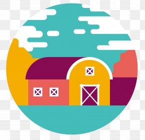 Cartoon Barn Round Icon - Silo Warehouse Clip Art PNG