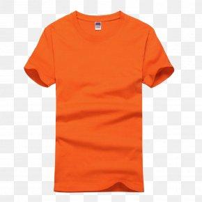 Orange Short Sleeve T-shirt - T-shirt Sweater Sleeve Undershirt PNG