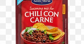 Tex Mex - Chili Con Carne Vegetarian Cuisine Mexican Cuisine Meat Spice Mix PNG