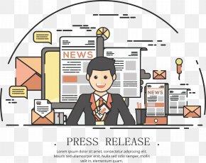 News Anchor - Cartoon Illustration PNG
