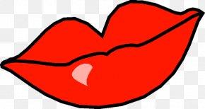 Big Red Lips Creative - Cartoon Mouth Lip PNG