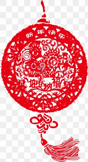 Vector Chinese New Year Red Knot - China Papercutting Chinese New Year PNG