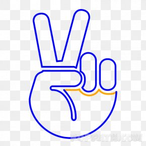 Victory And Peace Day - Thumb Middle Finger Clip Art PNG