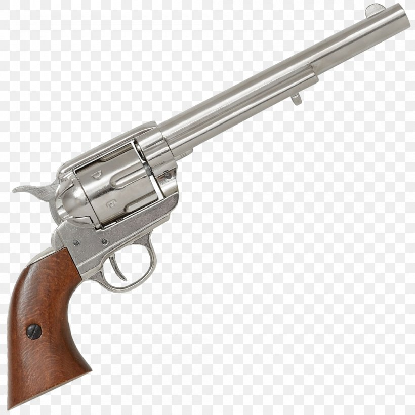 Colt Single Action Army .45 Colt Colt's Manufacturing Company Revolver Firearm, PNG, 1000x1000px, 44 Magnum, 45 Acp, 45 Colt, Colt Single Action Army, Air Gun Download Free